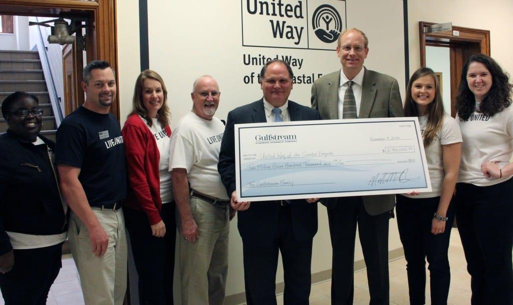 UWCE RECEIVES $2.7 MILLION FROM GULFSTREAM