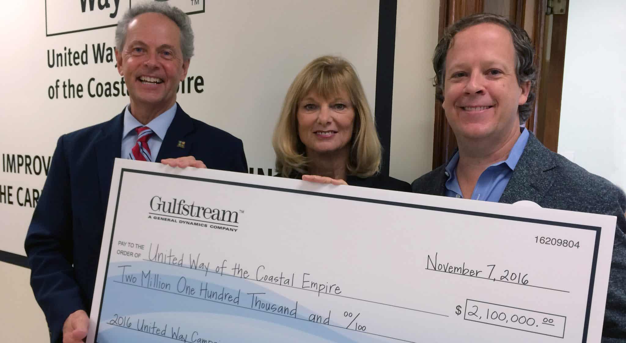 UWCE Receives $2.1 Million From Gulfstream